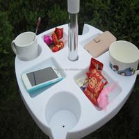 Outdoor Plastic Table with umbrella hole at the table top