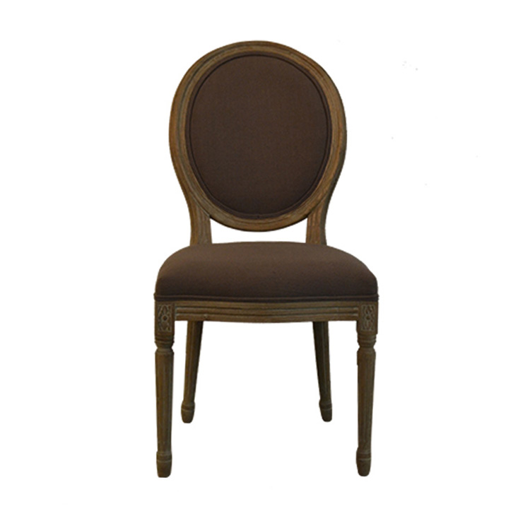 CDU16214 Customized high quality classical design oval back dining chair