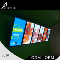China factory custom LED light box / lighting acrylic lightbox large aluminum profile ultra-thin light boxes