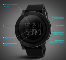 SKMEI personalised digital silicon mens wrist watches #1142