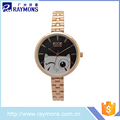2017 high quality cute design lady watch rose strass