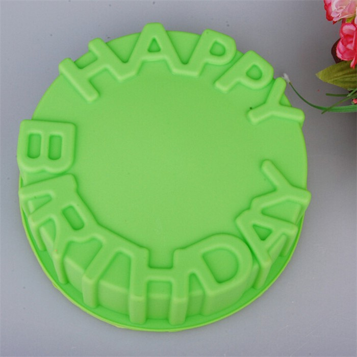 7inch Happy Birthday Cake Mold Pan Chocolate Pizza Baking Tray Silicone Mould.jpg