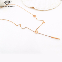 NKEL 2017 new no fade Titanium steel plated rose gold love letter pendant necklace for women ladies jewelry