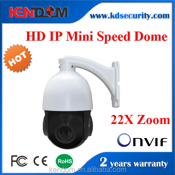 Kendom Mini PTZ 360 Degree Outdoor 22X Optical Speed Dome Camera IP Security POE