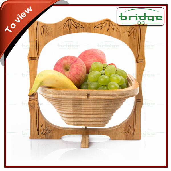 Bamboo Material and Eco-Friendly,Stocked Feature bamboo fruit basket