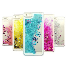 Dynamic Glitter Stars Liquid Smartphone Case For iPhone 5 5S SE 6 6S 7 Plus Flip Cover Case Wholesale for Iphone
