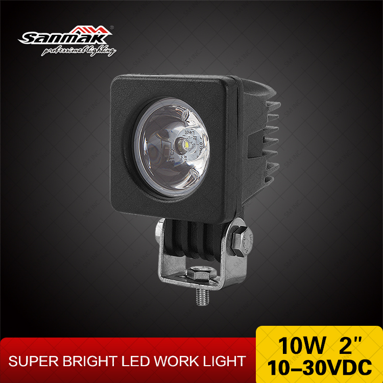 "Motor Accessories Square Motobike LED Light 2"" LED Motorcycle Driving Lights 10w Spotlight Auto"
