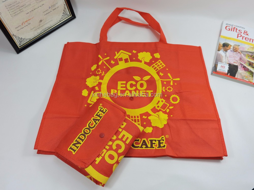 Popular promotion foldable non woven shopping bag with handle, easy carry and use