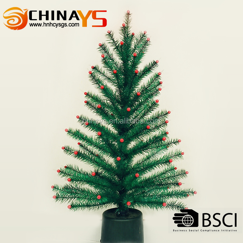 BSCI China High quality low price products fashionable feather christmas tree with lights on promotion
