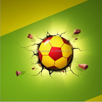 Christmas Gifts Kids bedroom 3d Wall lamp DIY football wall paper night light