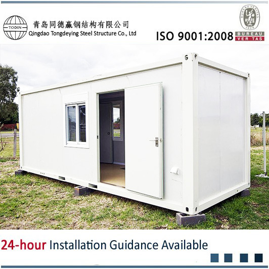 top quality and cost-effective 20ft flat pack container house with EPS sandwich Panel wall
