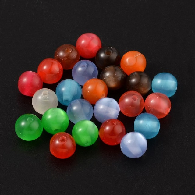 Charming Alibaba Bulk 8mm Cat Eye Resin Beads for Sale