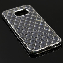 for galaxy S6 edge+ plus g9280 3D crystal Soft TPU Cover Crystal Clear Electroplate Back Case Cover
