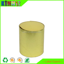 Custom Sizes Self Adhesive Vinyl Material Gold Label Sticker Roll
