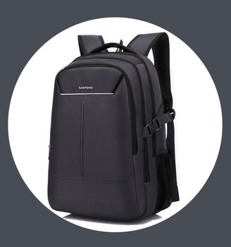 Classic Nylon Waterproof Laptop Backpack Bag for Men, Stylish Black Business Computer Backpack Wholesale