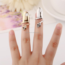 Cute snake finger wrap belly dancing finger wears with rhinestones