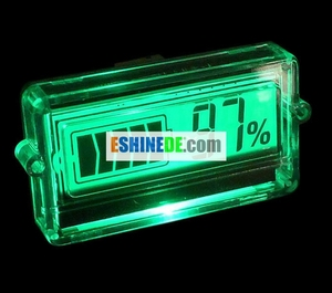 DC 8-50V Li/Lead-acid Battery Capacity Indicator 12 24 48V/3~7S LCD Display