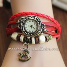 Hotsale New Fashion Sports Vintage Ladies Watch Women With Brass Back