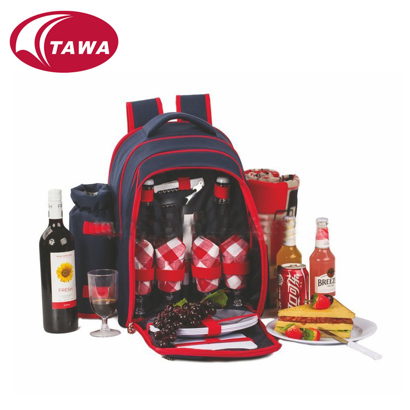 Hot sale wholesale outdoor 4 person cheap picnic bag set