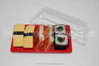 Take out sushi serving tray disposable plastic food container wholesaler and manufacturer from China