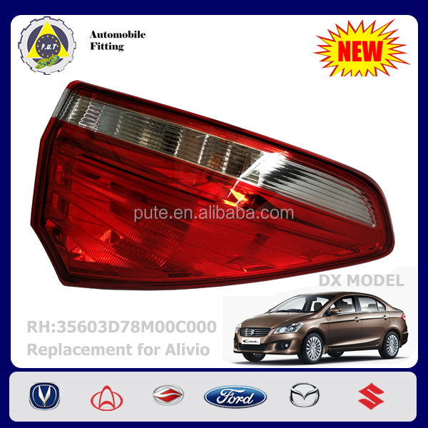 Auto Electrical System 35604-78MA0-000 35604D78M00C000 SGX SDX LH Tail Lamp for Changan Suzuki Alivio 1.6L