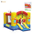 happy hop Inflatable toys-9201 Clown Slide and Hoop Bouncer,Clown bouncer House with small inflatable slides