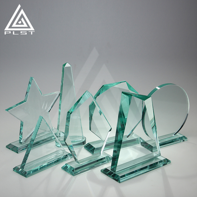 wholesale glass trophise awards parts cheap blank crystal trophy award custom shield awards plaque for souvenirs