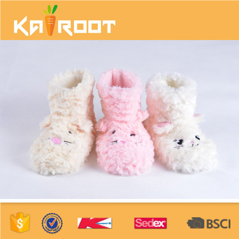 children toddlers tall winter warm colorful knit indoor slipper boots