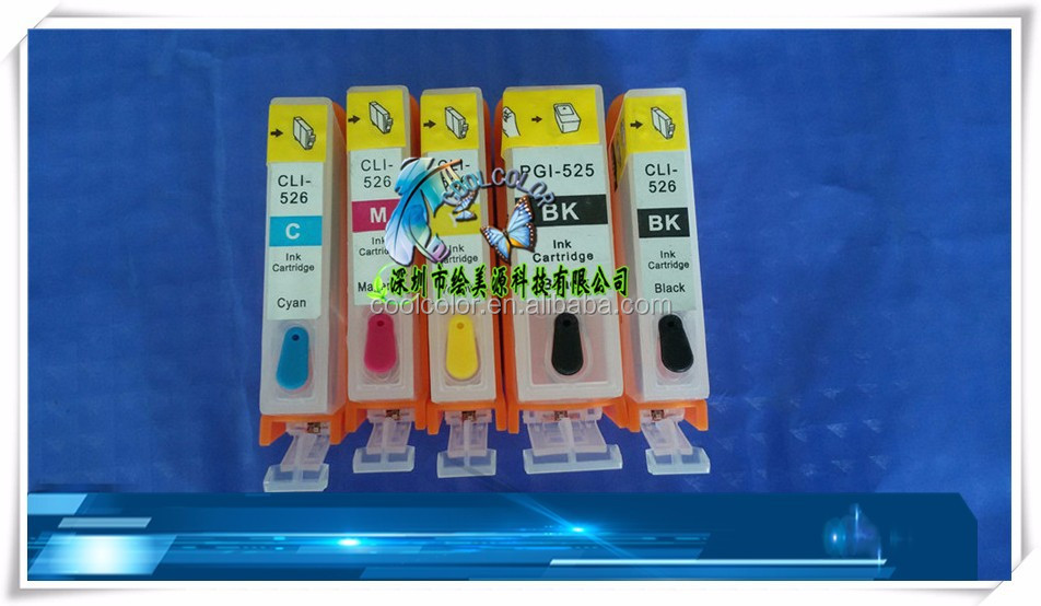 Refillable ink cartridge PGI-425/CLI-426 for Canon MG5240/5140/6140/8140 with factory supply.