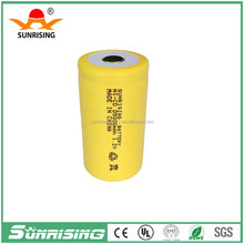 Accept Paypal 1.2v ni-cd D rechargeable battery/1.2v battries/D5ah battery for flashlight