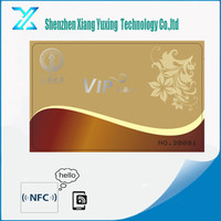 Gold Silver hot stamping printing white blank Disposable Paper / PVC 125khz rfid access control cards