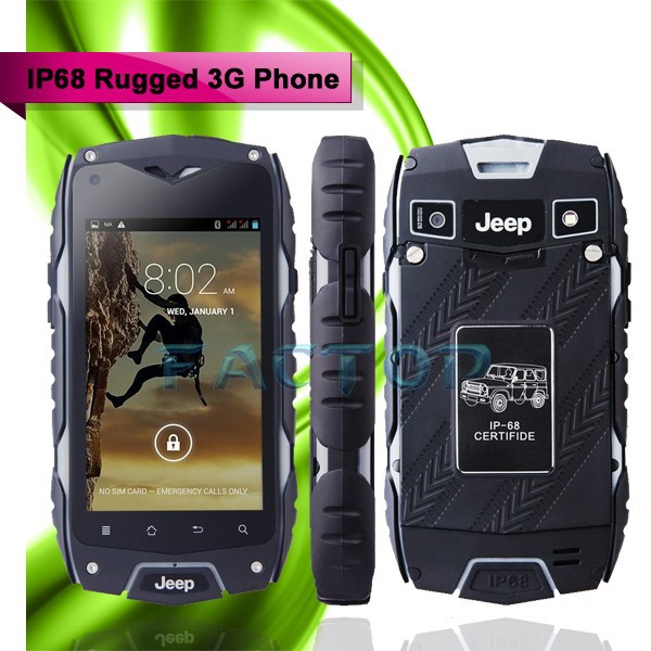 Z6 Cellular Waterproof Shockproof Mobile Phone Touch Screen 4inch