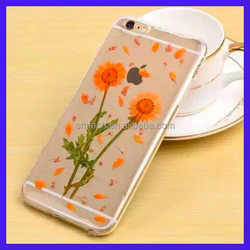 Wholesale factory price Dry pressed flower case natural fresh real flower designed phone case for smartphone
