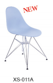classical plastic chair with chromed leg
