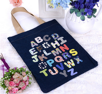2016 most popular cute printed letter reusable folding shopping bag
