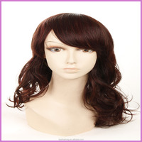 BSD top grade best quality loose wave wine red color 100 percent human hair wigs