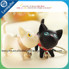 Small Black, White Dog Shaped 3d Soft PVC keychain For Lover