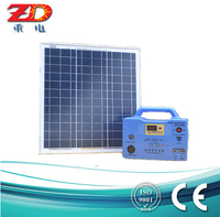 30w portable Solar Home System with Bulbs Mobile Charger and Radio