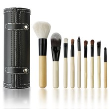 9pcs Natural Hair Professional Make Up Brush Set