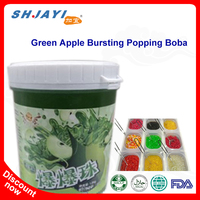 Bubble Tea Recipe Flavors Green Apple Popping Juice Bursting Boba Tapioca Ball Manufacturers