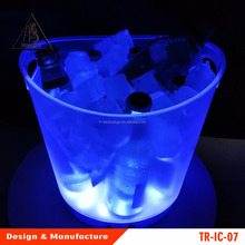 Novelty LED Submersible Ice Bucket Tub Glow Lights for Parties & Events