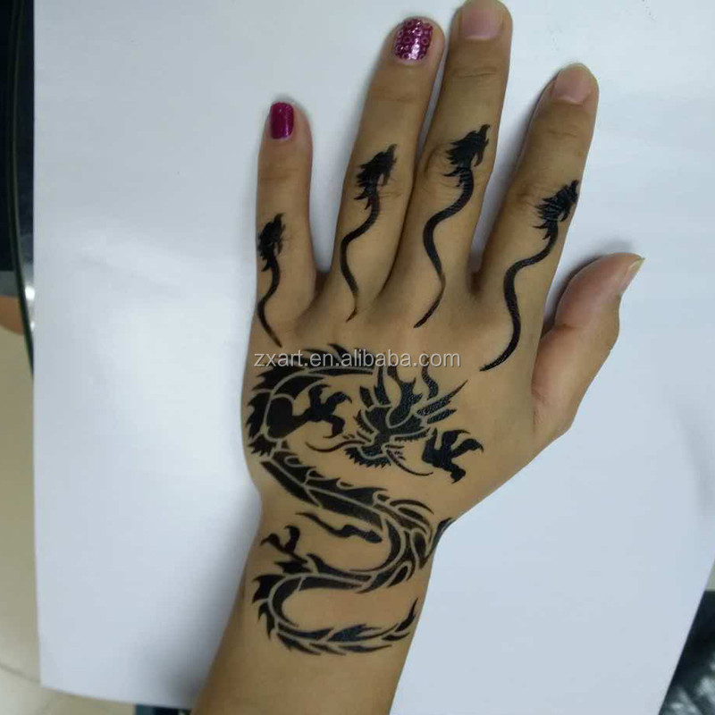 New design customize design star stencil henna tattoo stencil glitter tattoo stencil