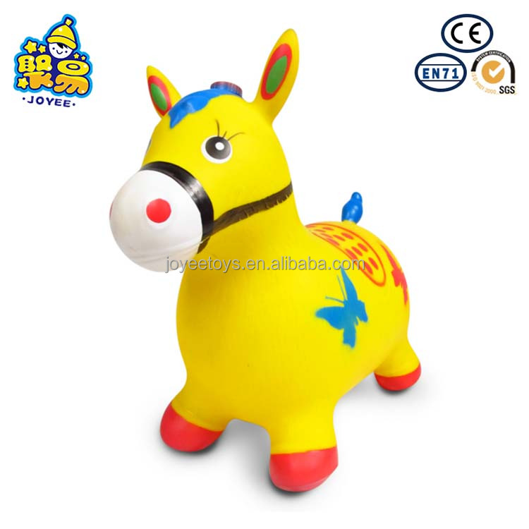 Plastic jumping hopping bouncing horse with real neigh sounds