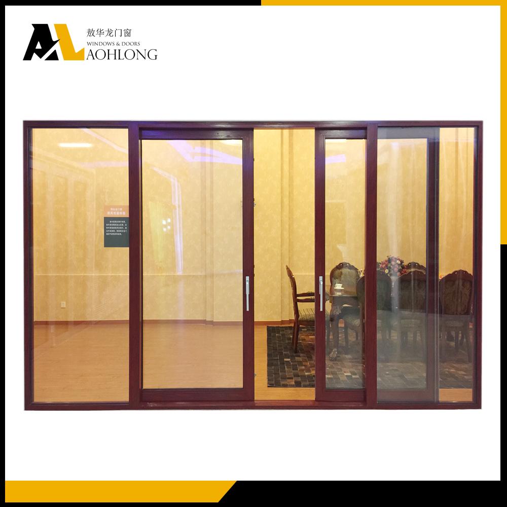 Aluminum Frame 4 Panel Sliding Patio Doors With Low Threshold