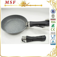 MSF-LAFP-22 - fry pan Europe popular style forged aluminum fry pan marble ceramic non stick coating durable detachable handle