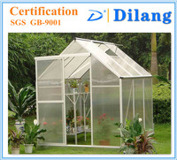 polycarbonate sheet covered 6*4 6*6 8*10 8*12 FT low cost greenhouse