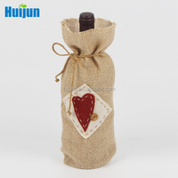 Alibaba excellent manufacturer promotional jute Christmas wine small bags for gift