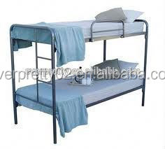 Modern designer stainless steel bed, folding metal double bunk bed, metal frame bunk beds