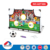 Cost-effective sport training set baffle plate mini portable soccer goal with inflator