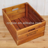 vegetable home decorate bicycle wooden storage crate